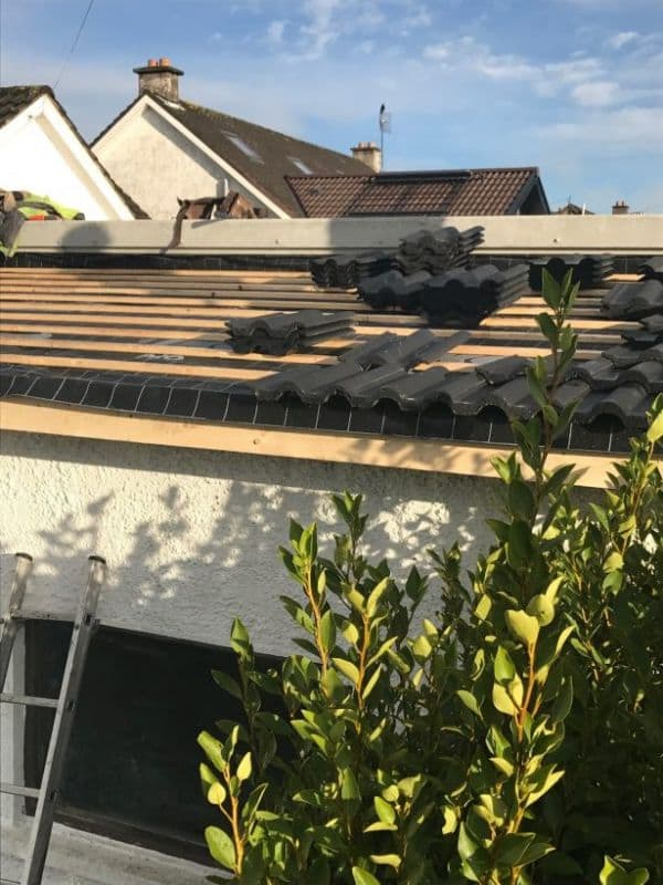 Cork Roof Installed